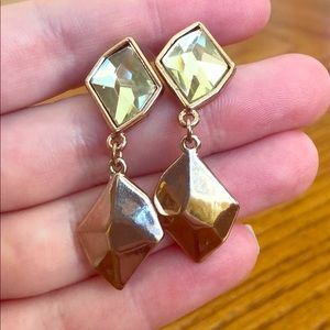 Express Gold Yellow Color Stone Dangle Earring